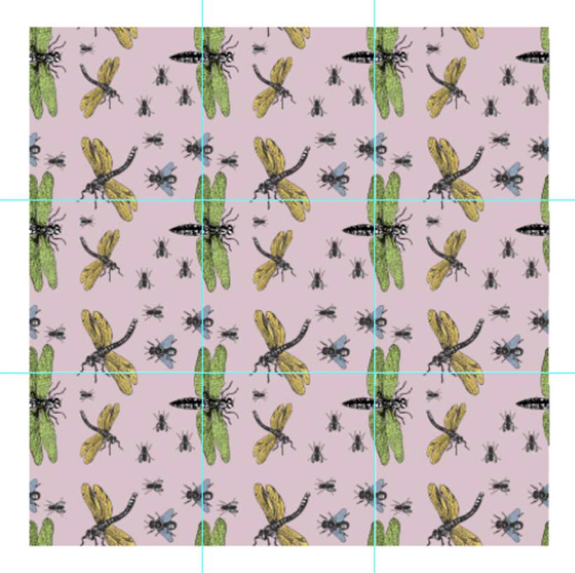 Insectos: Diseño de estampados textiles 3