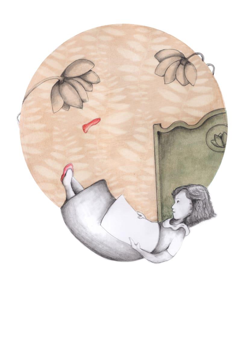 """Ilustraciones para """"Solo un pie descalzo"""". Ana María Matute.  3"""