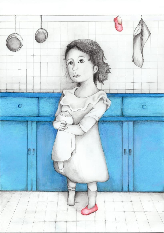 """Ilustraciones para """"Solo un pie descalzo"""". Ana María Matute.  1"""
