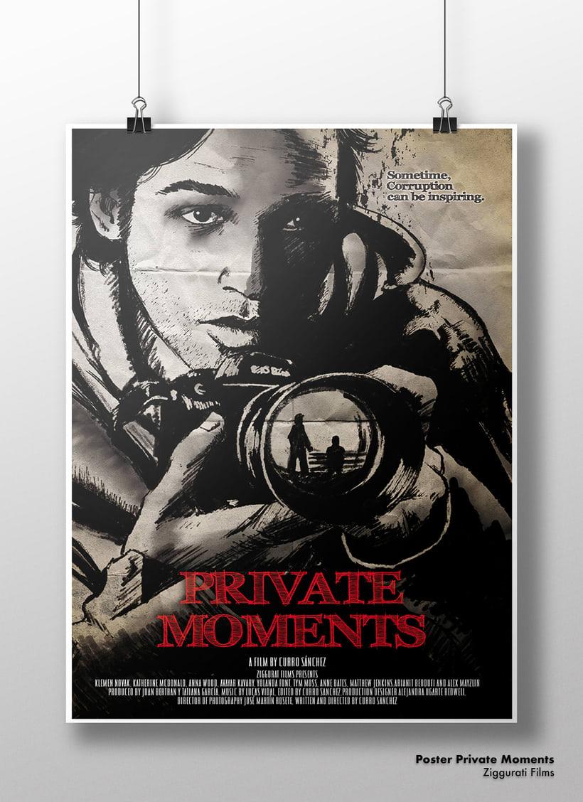 Poster del corto Private Moments en el que también participé en el sotryboard. -1