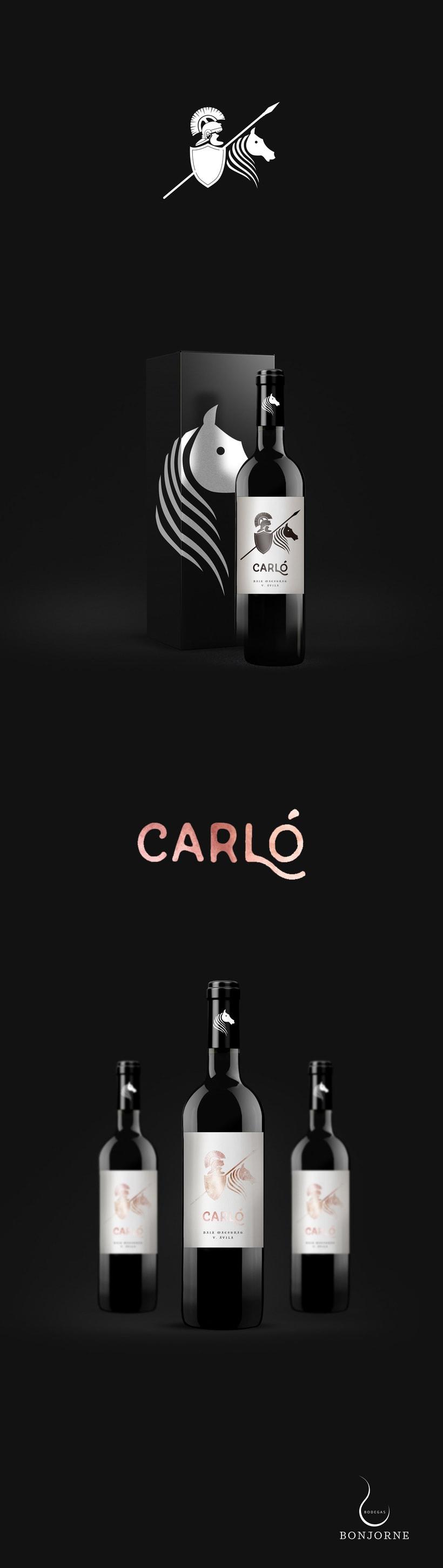 Diseño etiqueta de vino Carló · Bodegas Bonjorne -1