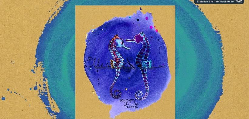 """Design for CD and Website of """"Elles et Louis"""" -1"""