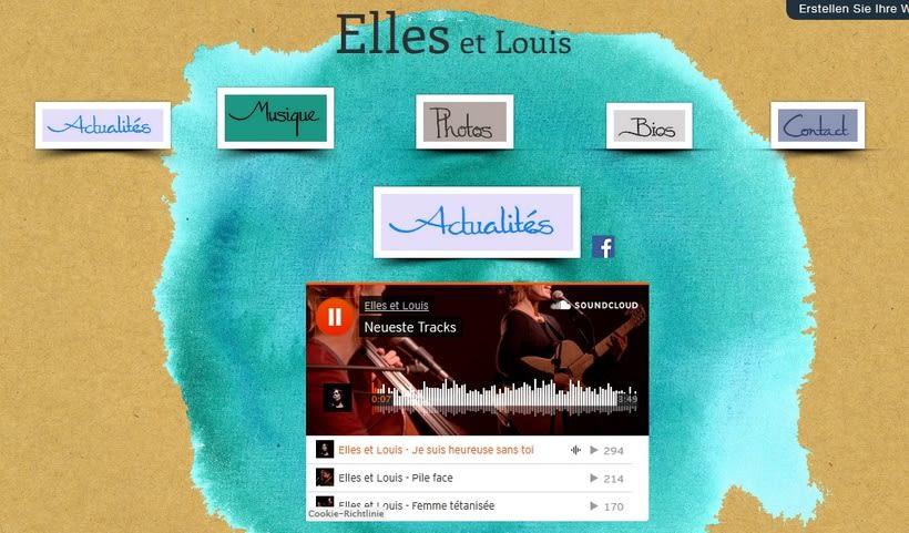 """Design for CD and Website of """"Elles et Louis"""" 0"""