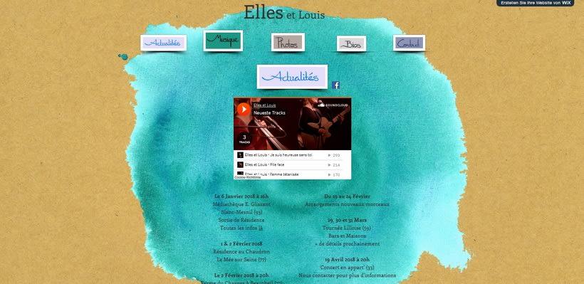 """Design for CD and Website of """"Elles et Louis"""" 1"""