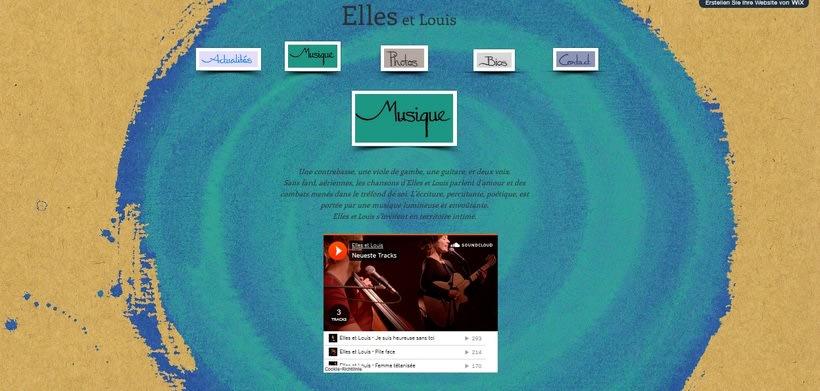 """Design for CD and Website of """"Elles et Louis"""" 2"""