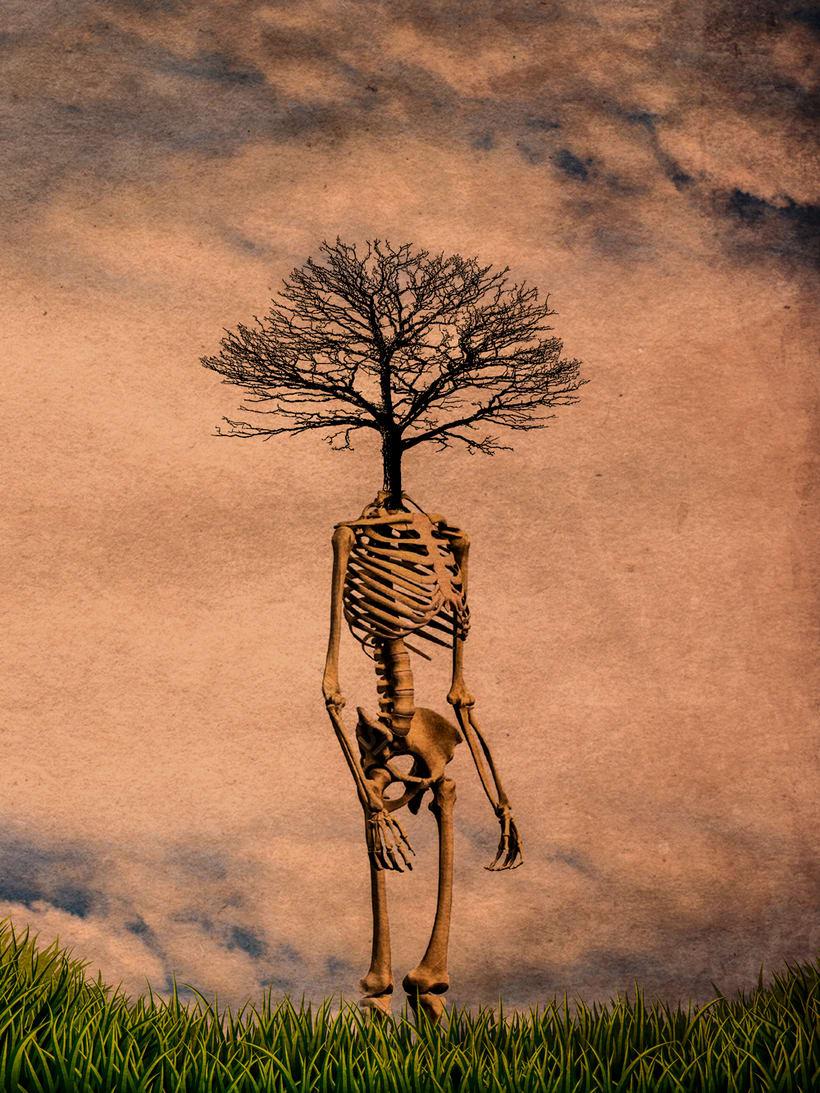 La muerte de unos es la vida para otros (collage) 0