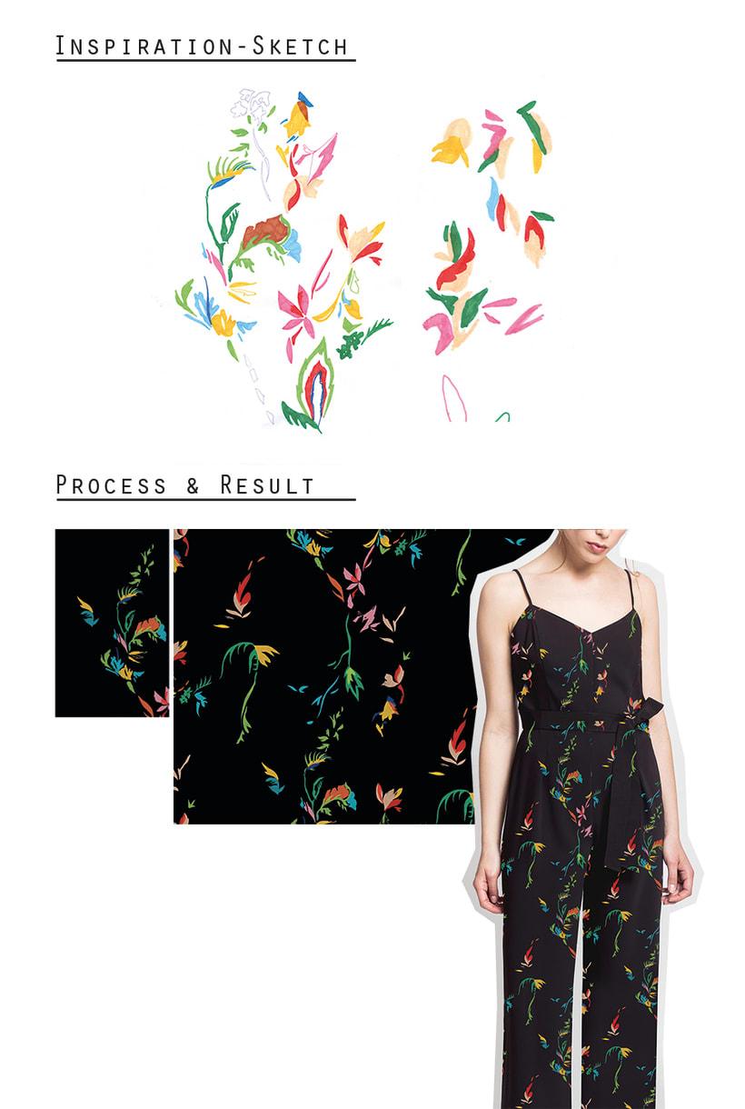 Abstract Nature: Diseño de estampados textiles 1
