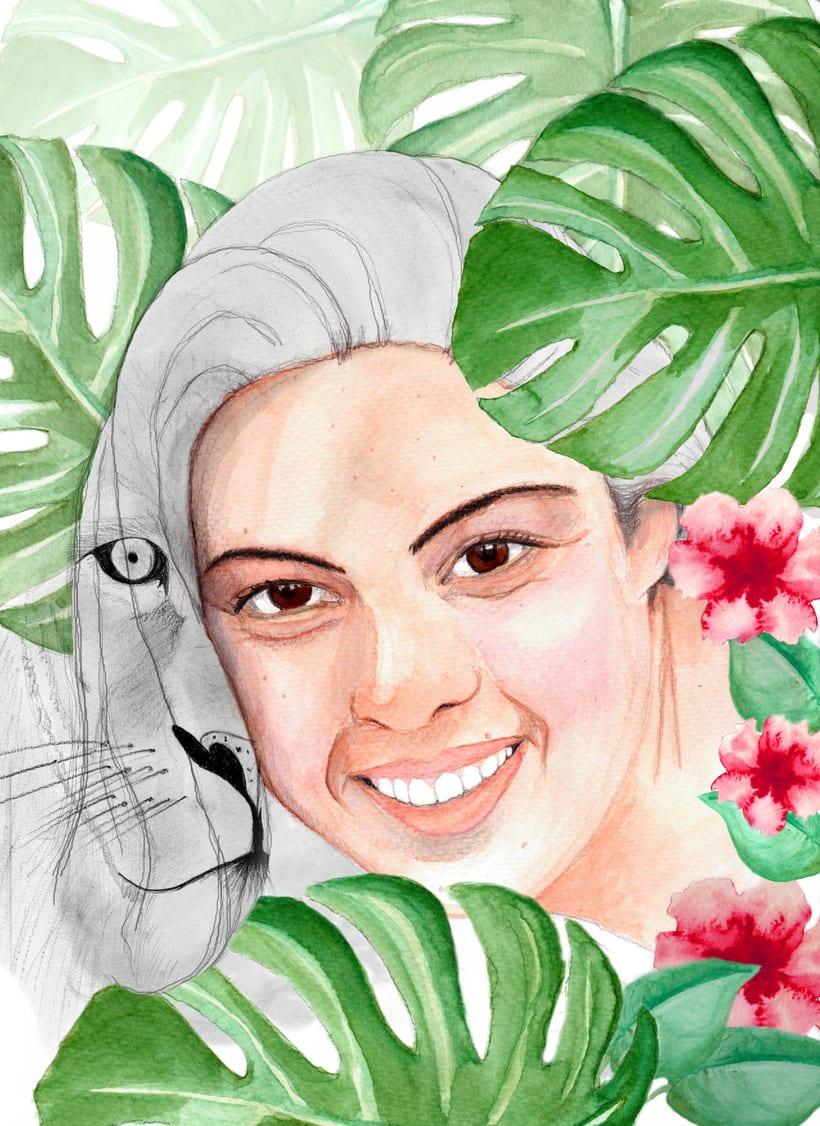 Proyectos del curso: Retrato ilustrado  -1