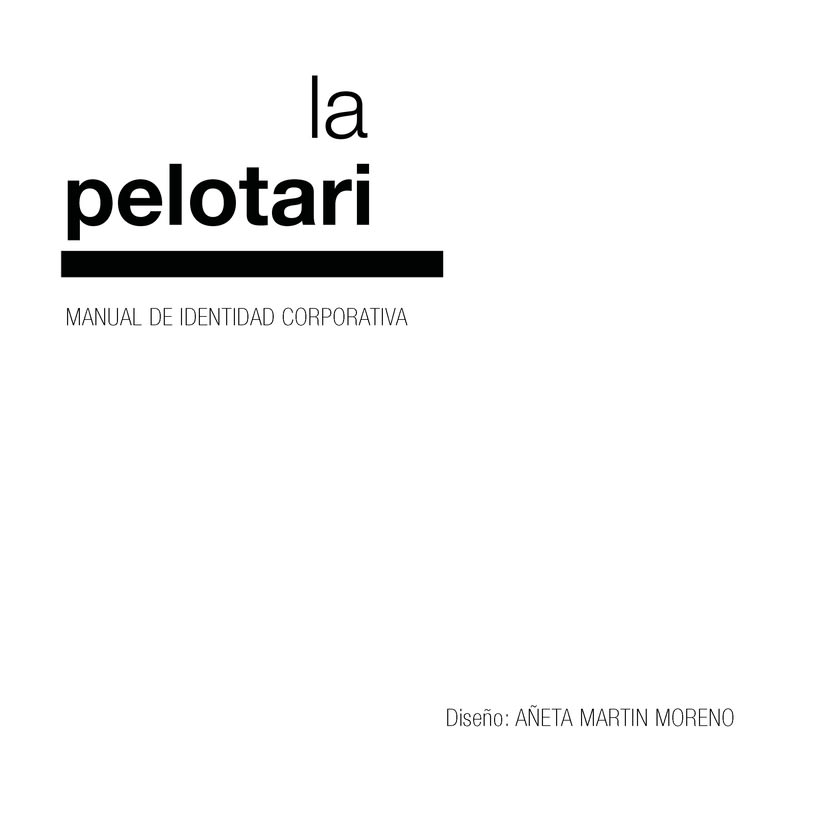 Manual de identidad visual corporativa Hotel la pelotari -1