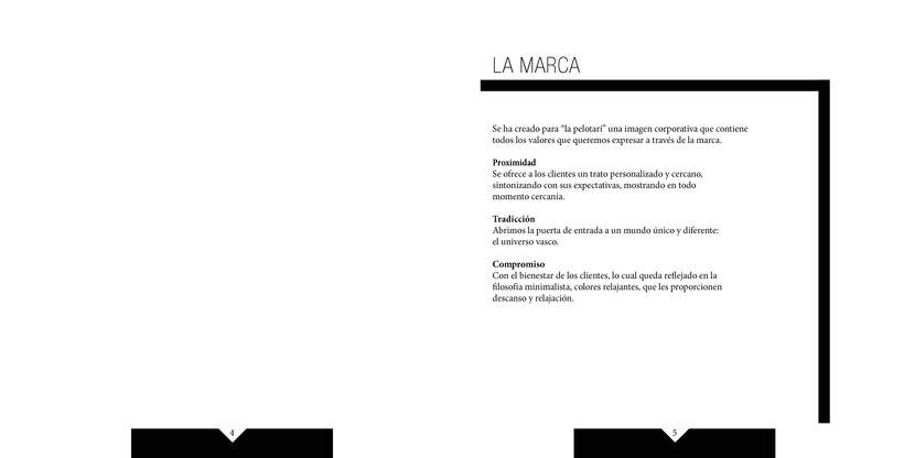 Manual de identidad visual corporativa Hotel la pelotari 1