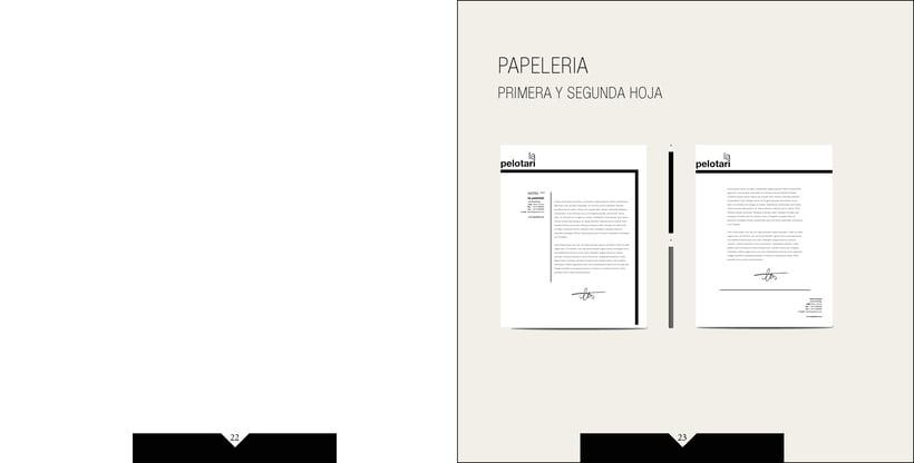 Manual de identidad visual corporativa Hotel la pelotari 10