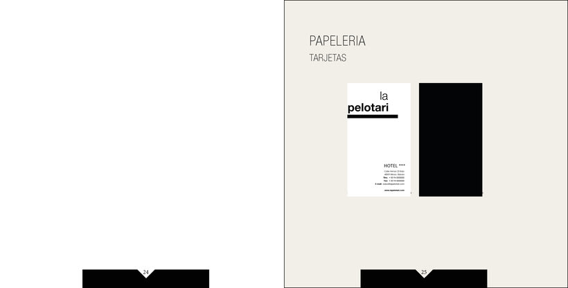 Manual de identidad visual corporativa Hotel la pelotari 11