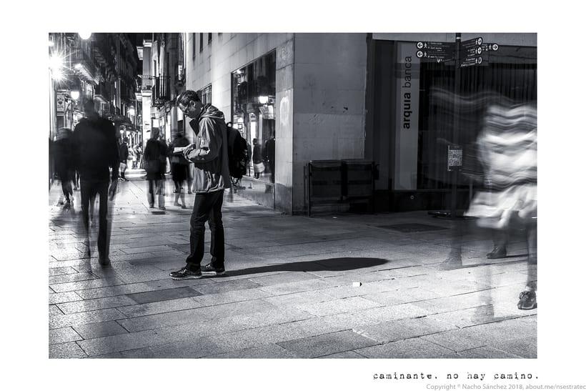 Caminante. Imágenes para el poema nº. XXIX Proverbios y Cantares, de Antonio Machado. Serie de 11 fotos. 2