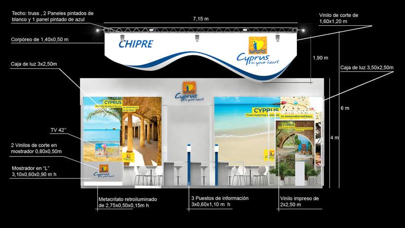 Diseño de stand Cyprus - Fitur 2018 - Madrid 2