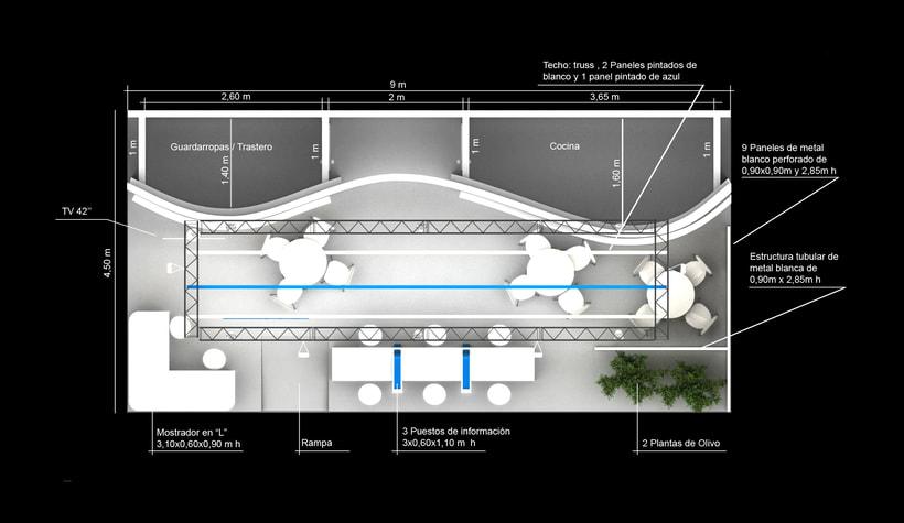 Diseño de stand Cyprus - Fitur 2018 - Madrid 3