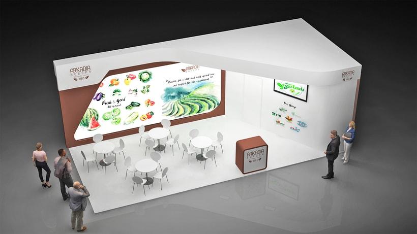 Diseño de stand Arkadia - Expo Center City 2018-Berlin -1