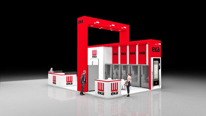 Diseño de stand Tecnoeka - Hostelco 2018-Fira-Barcelona 0