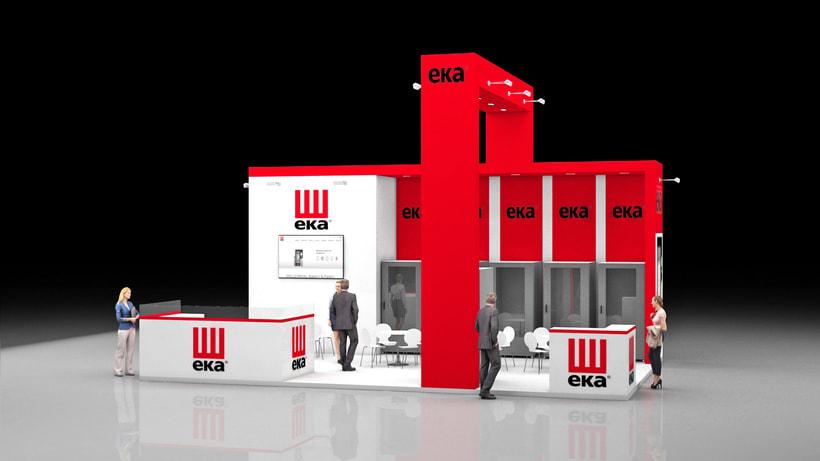 Diseño de stand Tecnoeka - Hostelco 2018-Fira-Barcelona 1