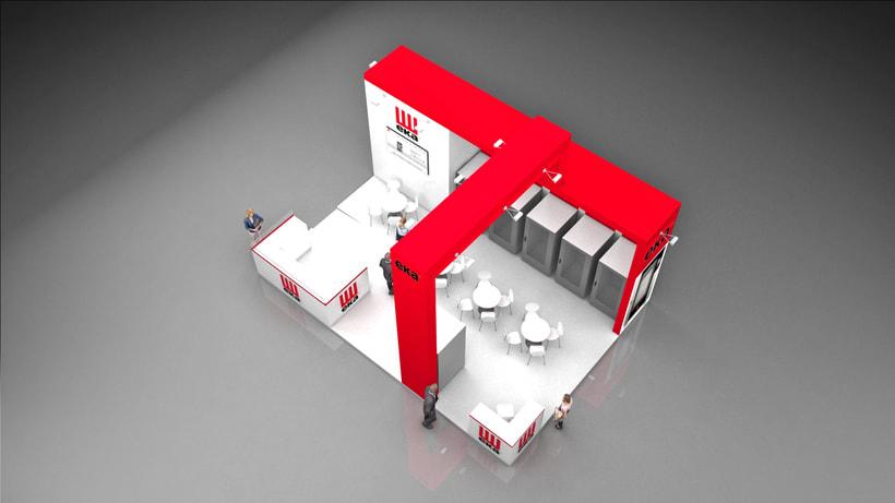 Diseño de stand Tecnoeka - Hostelco 2018-Fira-Barcelona 2