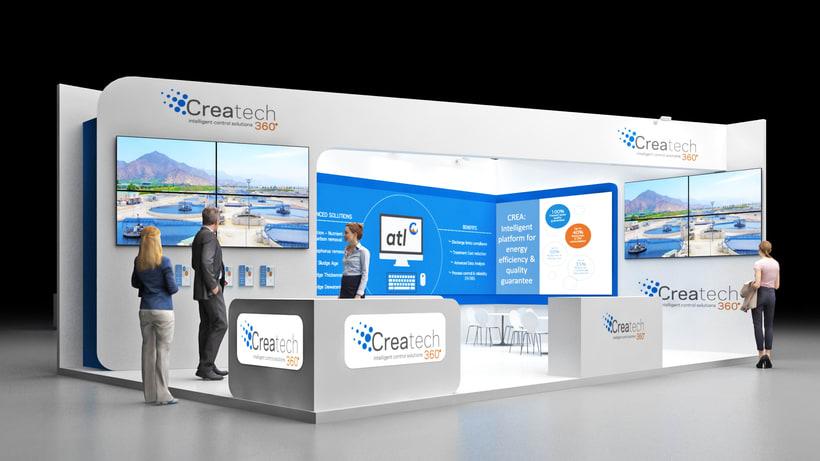 Diseño de stand Createch 360º - Ifat 2018 - Munich 0
