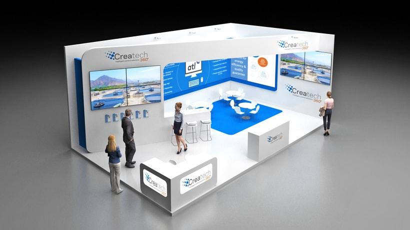 Diseño de stand Createch 360º - Ifat 2018 - Munich 1