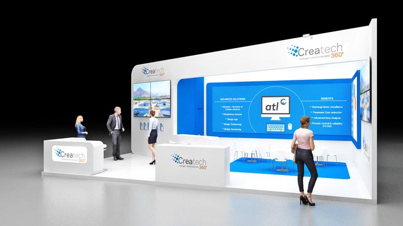 Diseño de stand Createch 360º - Ifat 2018 - Munich 2