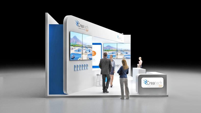 Diseño de stand Createch 360º - Ifat 2018 - Munich 6