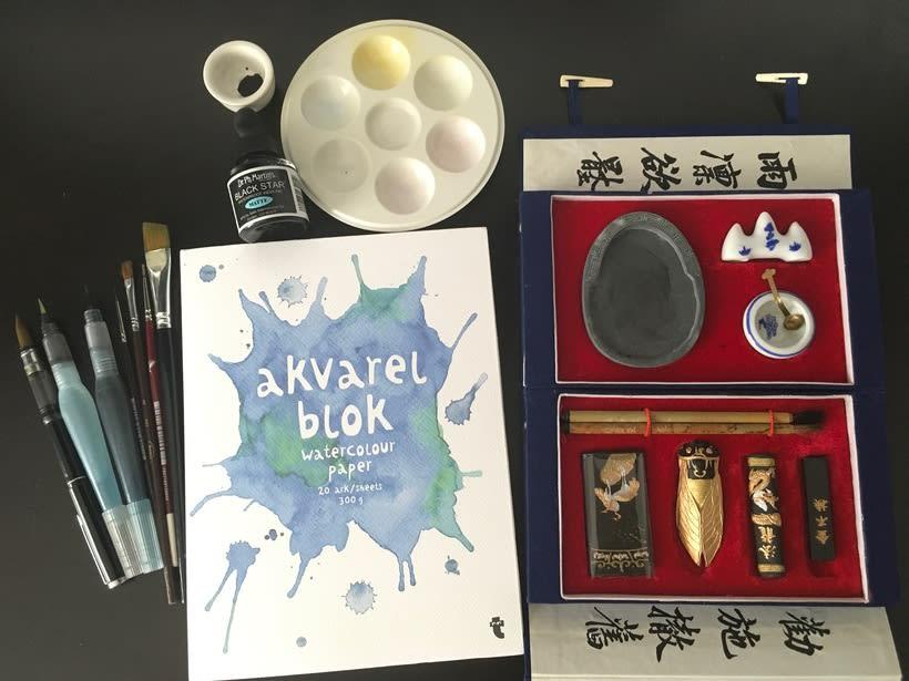 Mi Proyecto del curso: Introducción a la ilustración con tinta china 7