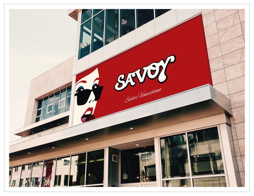 Re-diseño de la marca Savoy ve -1