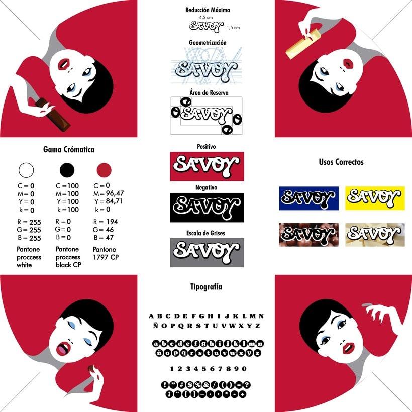 Re-diseño de la marca Savoy ve 11