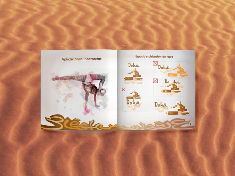 Manual corporativo de Olimpiadas Doha-Qatar 4