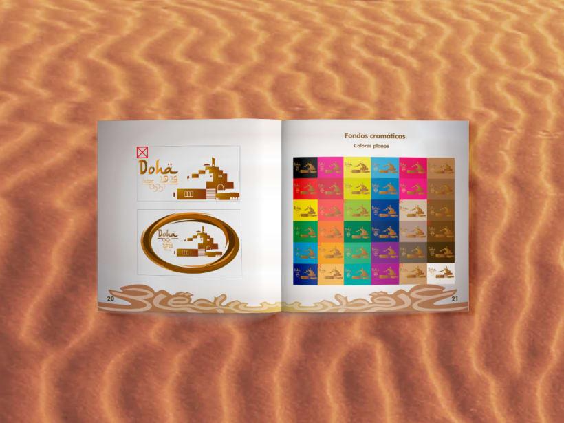 Manual corporativo de Olimpiadas Doha-Qatar 5