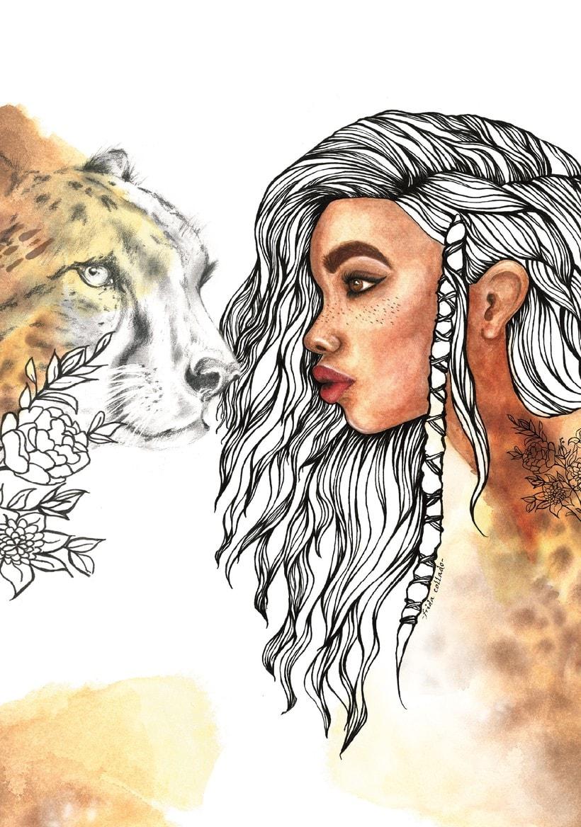 Mi Proyecto del curso: Retrato ilustrado en acuarela @fridacollado 1