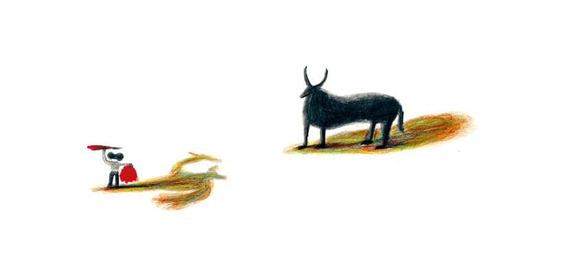 El torero, la mujer, el niño y la bruja -1