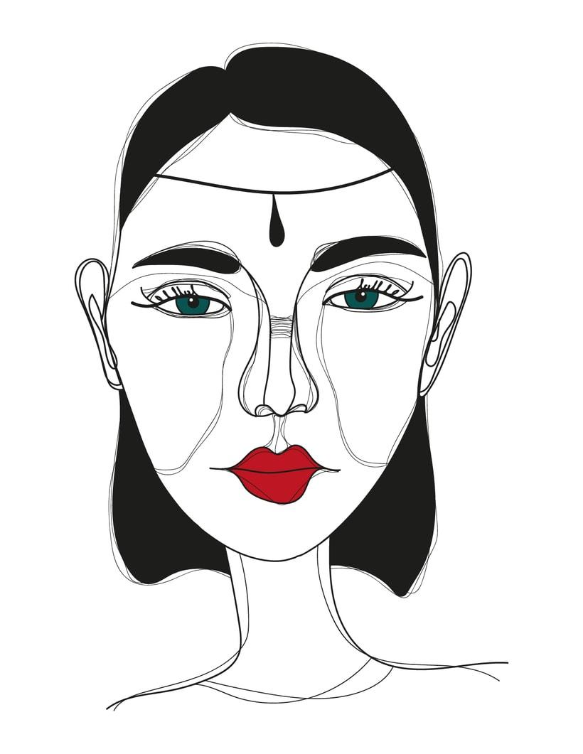 Ilustración de rostros 0