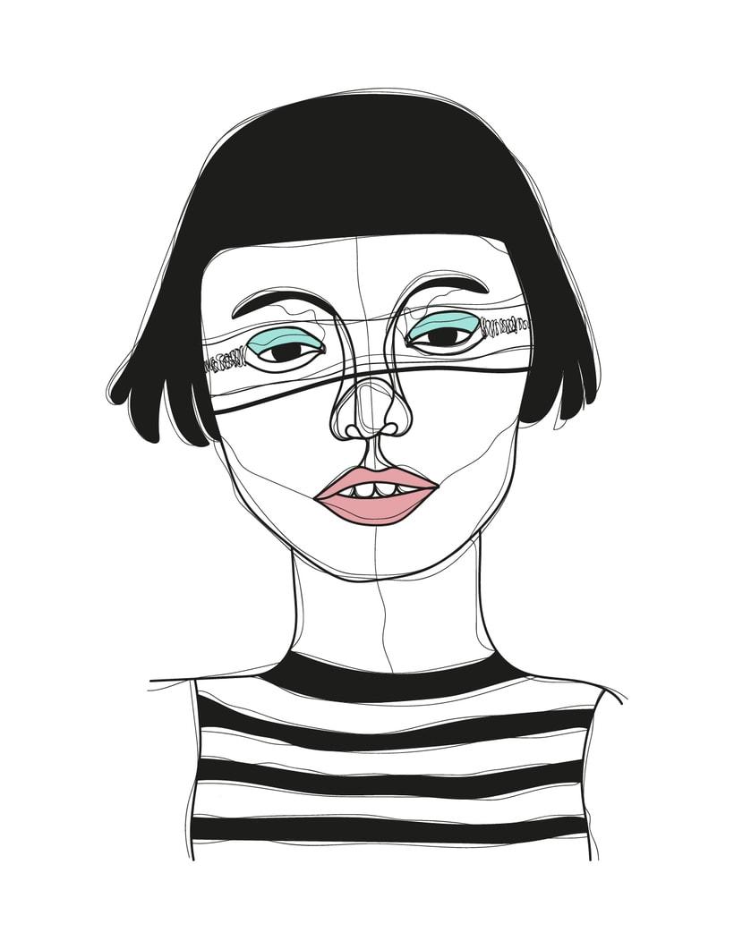 Ilustración de rostros 1