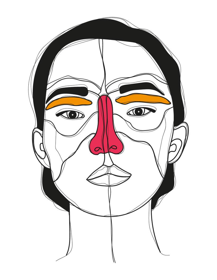 Ilustración de rostros 2