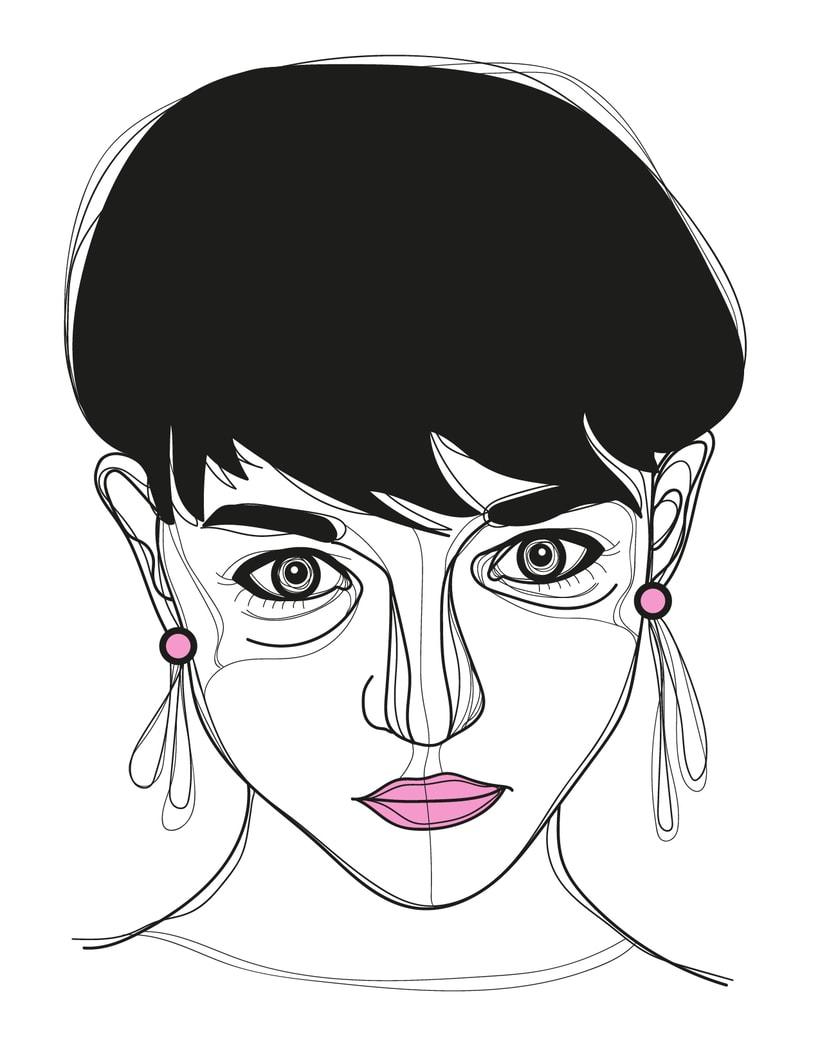Ilustración de rostros 3