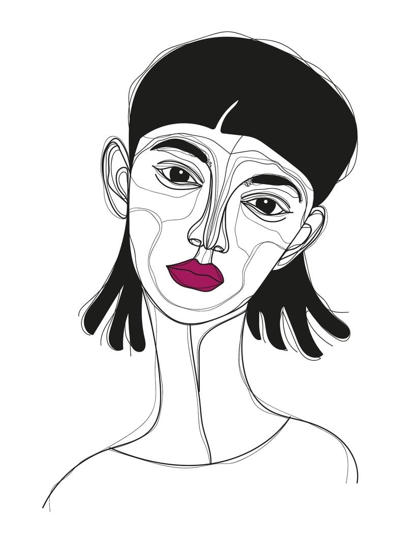 Ilustración de rostros 4
