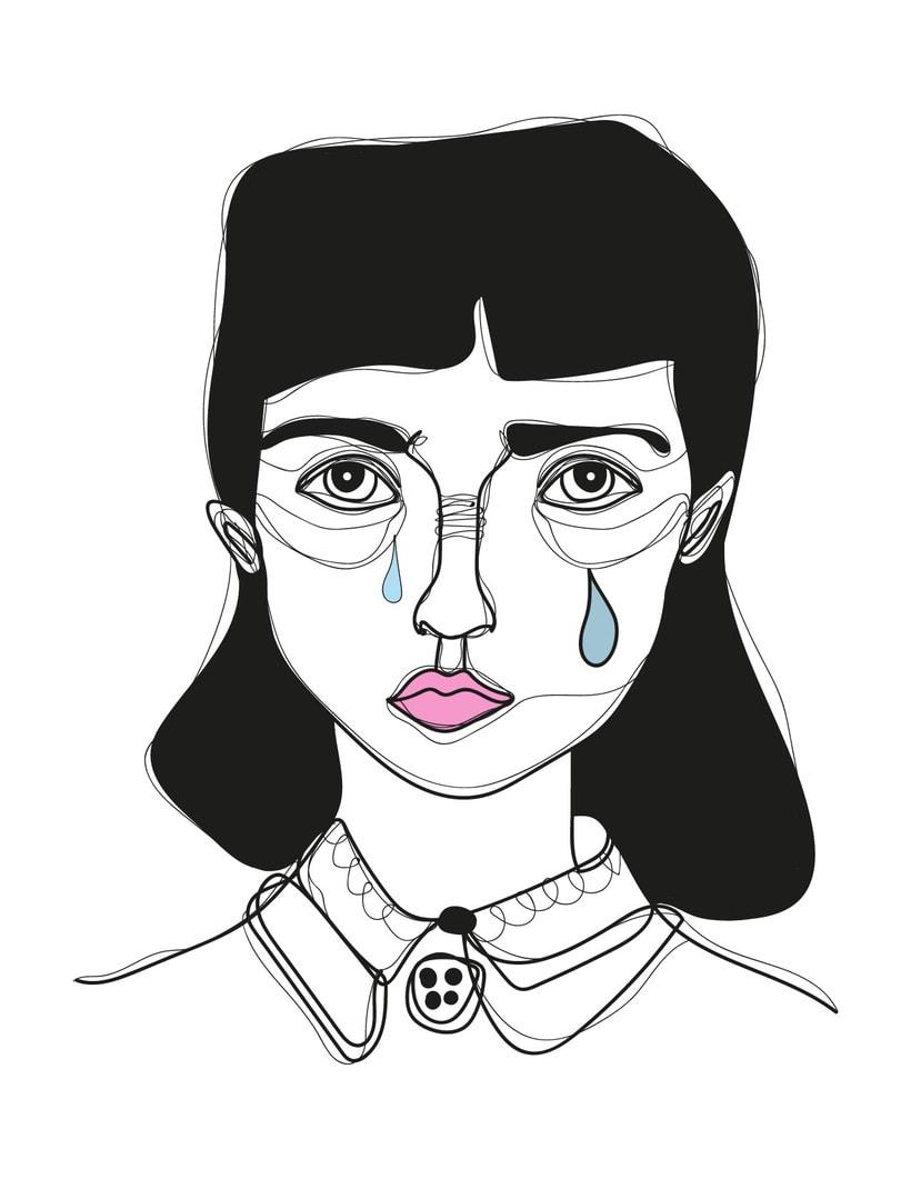 Ilustración de rostros 5