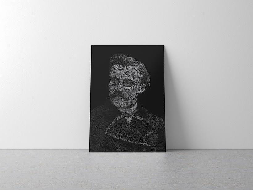 Caligrama de Friedrich Nietzsche  -1