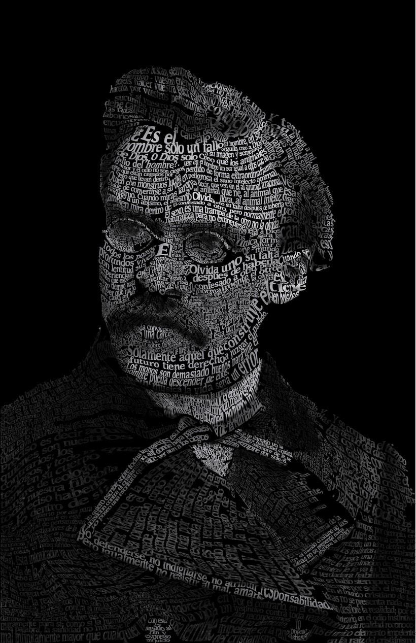 Caligrama de Friedrich Nietzsche  0