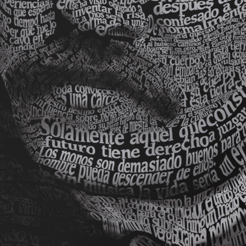 Caligrama de Friedrich Nietzsche  1