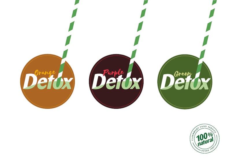 Diseño etiquetas Detox para Claramunt 2