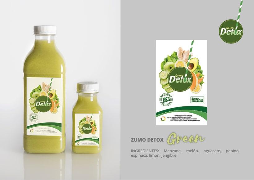 Diseño etiquetas Detox para Claramunt 6