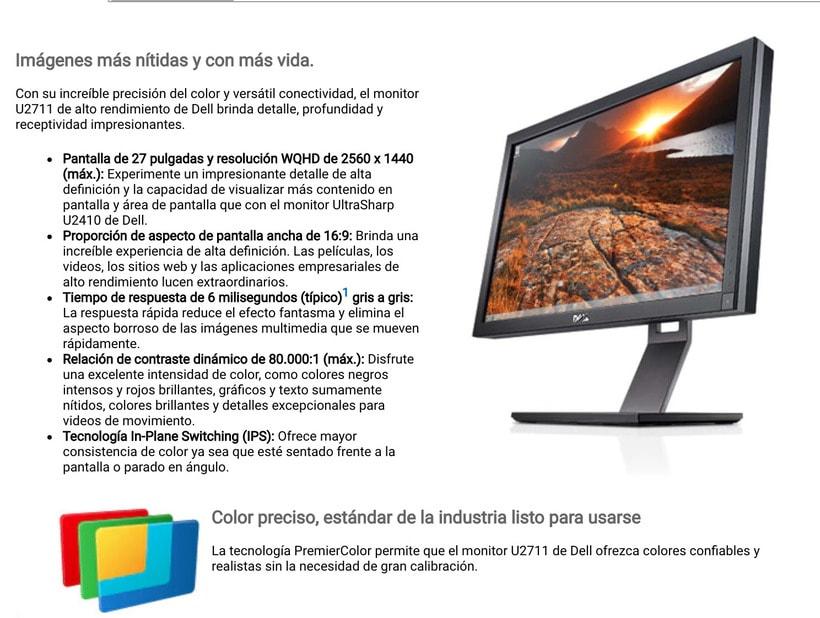 DELL 27 pulgadas U2711 monitor pro 1