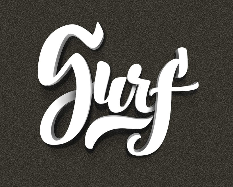 Surf on letters -1