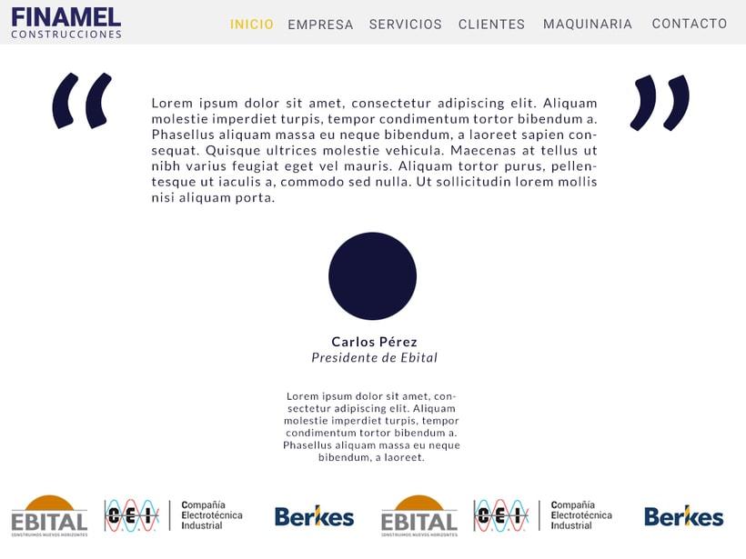 FINAMEL - Maquetación web y celular 3