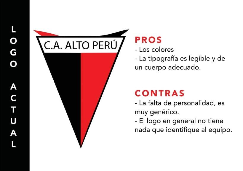 C. A. Alto Perú - Rediseño de escudo 2