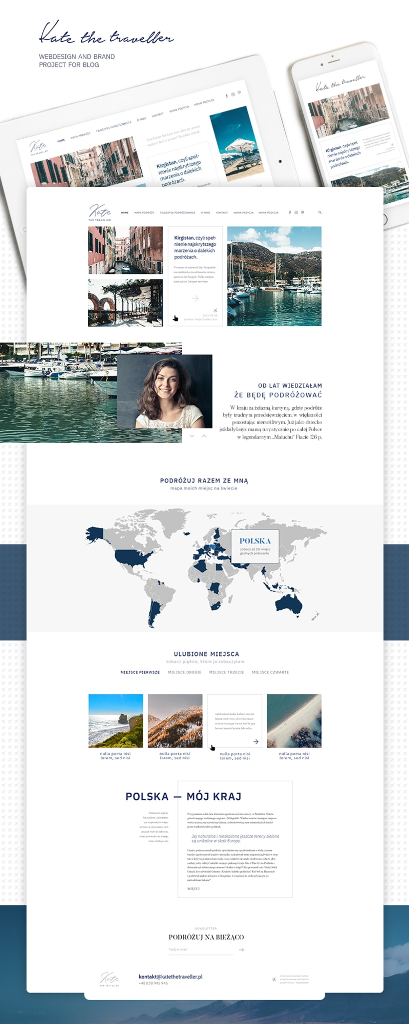 Kate the Traveller — Webdesign and brand project  1